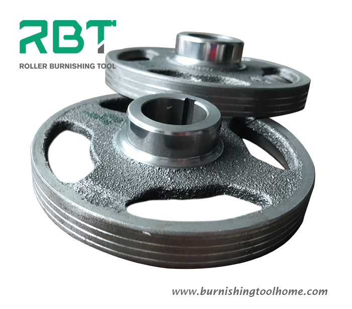 How to achieve Ra0.2 of surface roughness on pulley crank shaft of car engine with OD stepped shaft burnishing tool?